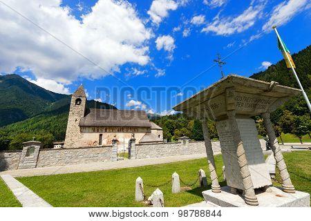 Church And The War Memorial - Pinzolo Trento Italy