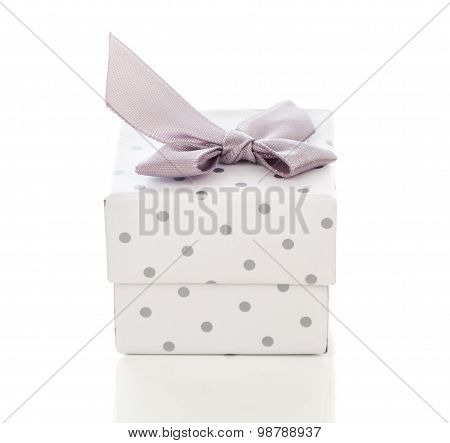 Gift Box Present With Satin Bow