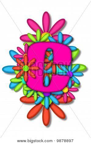 Alphabet Flower Cushion C