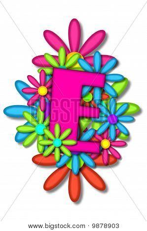 Alphabet Flower Cushion E