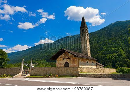 Church Of Sant'antonio Abate - Pelugo Trento Italy