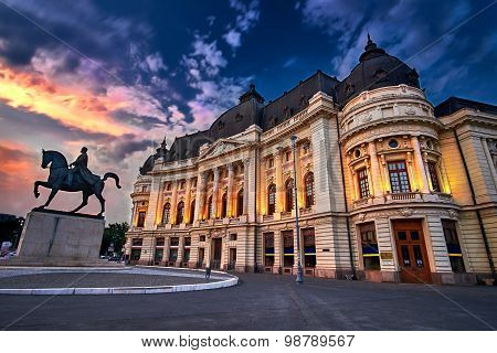 Bucharest at Sunset