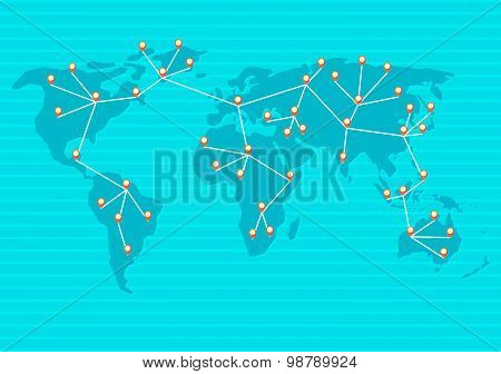 the world is connected into network