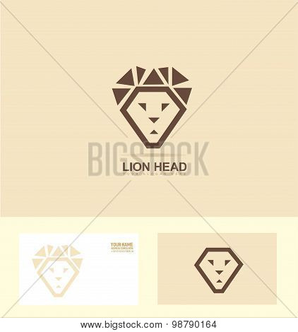 Stylized Lion Head Logo