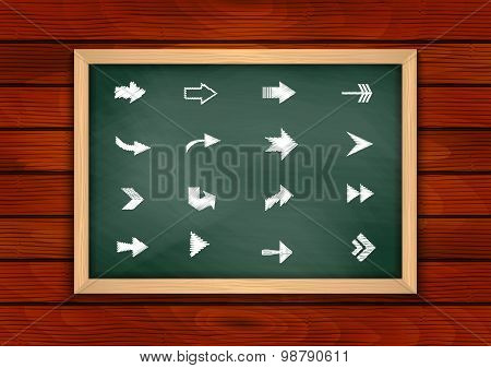 Chalkboard With Arrow Sign Collection