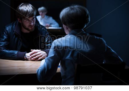 Interrogation In A Dark Room