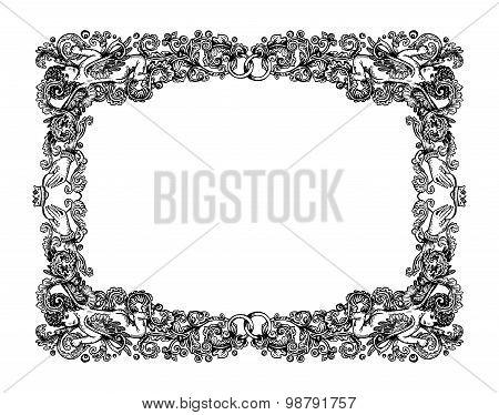 Vintage Wedding Vignette Frame