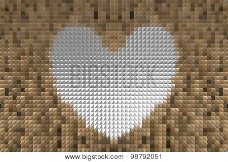 Extrude Heart Shape Abstract Background