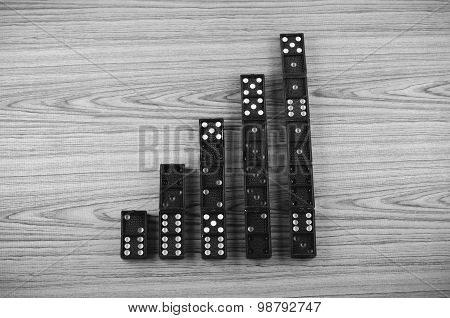 Black Domino Black And White Color Tone Style