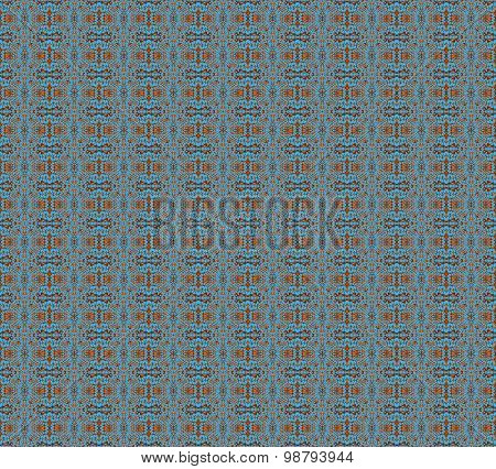 Seamless pattern orange brown blue