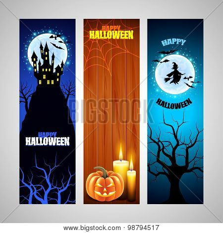Three Vertical Halloween Banners