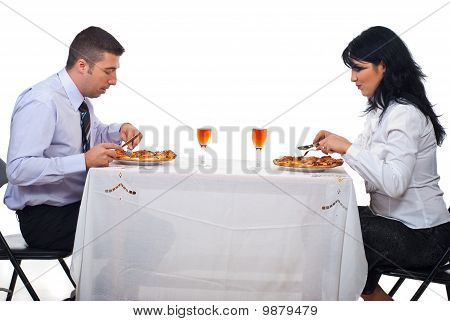 Business People Having Lunch