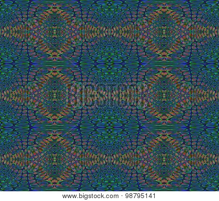 Seamless pattern blue green brown