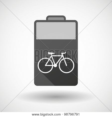 Isolated Battery Icon With A Bicycle