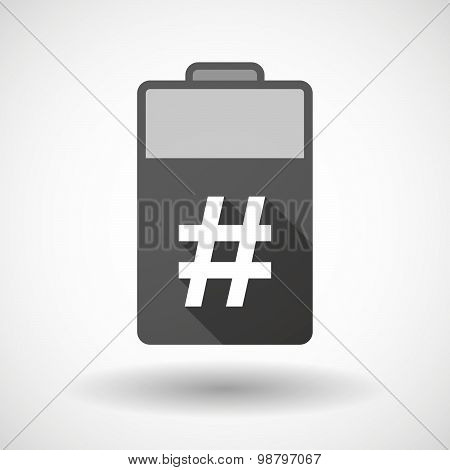 Isolated Battery Icon With A Hash Tag