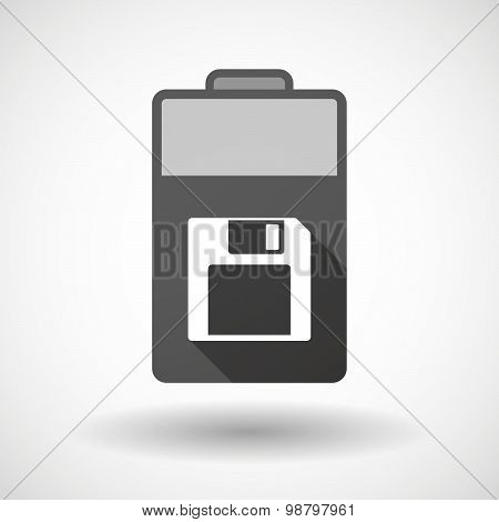Isolated Battery Icon With A Floppy Disk