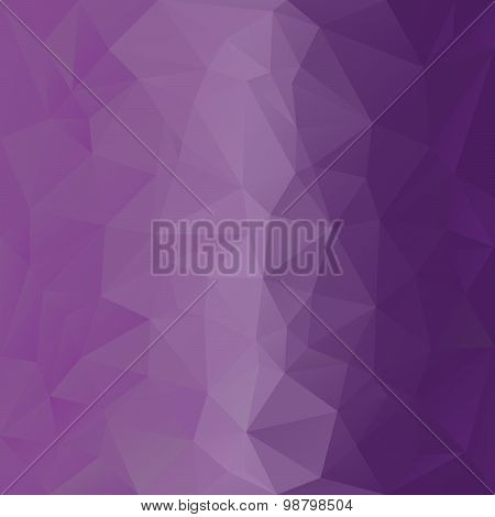 Vector Polygonal Background With Pattern - Triangular Design In Violet Color