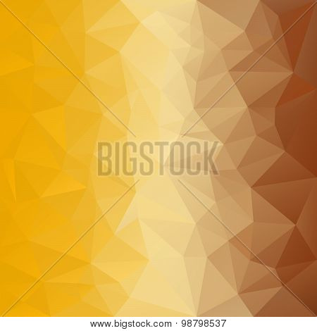 Vector Polygonal Background With Pattern - Triangular Design In Honey Colors