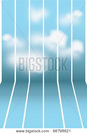 Blue seamless background sky with clouds.