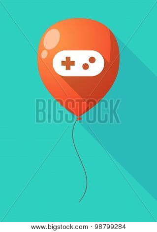 Long Shadow Balloon With A Game Pad