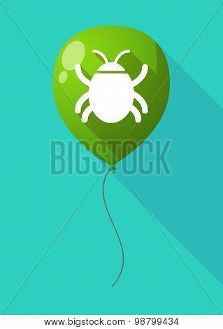Long Shadow Balloon With A Bug