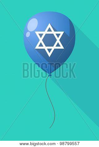 Long Shadow Balloon With A David Star