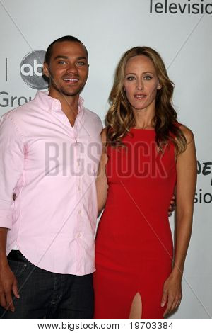 LOS ANGELES, CA - AUG 1:  Jesse WIlliams & Kim Raver at the Disney / ABC Summer Press Tour  on August 1, 2010 in Beverly Hills, CA.....
