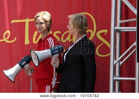 Los Angeles august 4: Jane lynch bei der Zeremonie für Jane lynch nach wird in Wachs auf verewigt