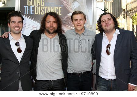 """LOS ANGELES - AUG 23:  The Boxer Rebellion arrives at the """"Going the Distance"""" Los Angeles Premiere at Grauman's Chinese Theater on August 23, 2010 in Los Angeles, CA"""