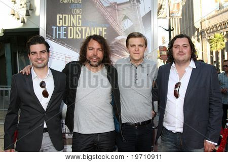 "LOS ANGELES - AUG 23:  The Boxer Rebellion arrives at the ""Going the Distance"" Los Angeles Premiere at Grauman's Chinese Theater on August 23, 2010 in Los Angeles, CA"