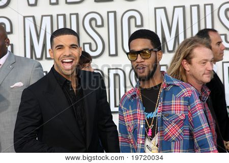 LOS ANGELES - SEP 12:  Drake, Kid Cudi arrive at the 2010 MTV Video Music Awards  at Nokia - LA Live on September 12, 2010 in Los Angeles, CA