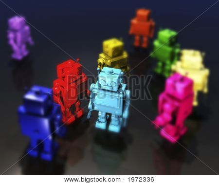 Robots In Bright Colours