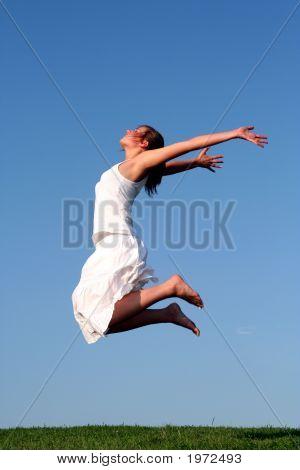 Mujer salto