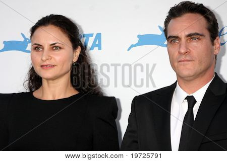 LOS ANGELES - SEP 25:  Rain Phoenix, Joaquin Phoenix arrive at the PETA 30th Anniversary Gala at Hollywood Palladium on September 25, 2010 in Los Angeles, CA