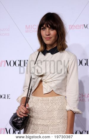 LOS ANGELES - OCT 1:  Alexa Chung arrives at the 8th Teen Vogue Young Hollywood Party - Red Carpet at Paramount Studios on October 1, 2010 in Los Angeles, CA