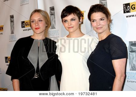 LOS ANGELES - OCT 8:  Chloe Sevigny, Ginnifer Goodwin, Jeanne Tripplehorn arrives at the Respect Awards at Beverly Hills Hotel Theatre on October 8, 2010 in Beverly Hills, CA