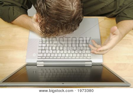 Frustration On The Laptop