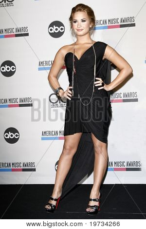 LOS ANGELES - OCT 12:  Demi Lovato  at the 2010 American Music Awards Nominations Press Conference  at The Mixing Room - JW Marriott on October 12, 2010 in Los Angeles, CA