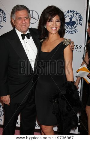 LOS ANGELES - OCT 23:  Les Moonves, Julie Chen arrives at the 2010 Carousel of Hope Ball at Beverly Hilton Hotel on October 23, 2010 in Beverly Hills, CA