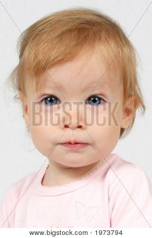 Baby Girl Taken Closeup Of Face