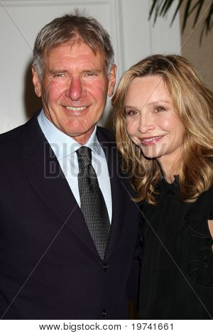 LOS ANGELES - OCT 29:  Harrison Ford, Calista Flockhart arrives at the Peace Over Violence Event at Beverly Hills Hotel on October 29, 2010 in Beverly Hills, CA