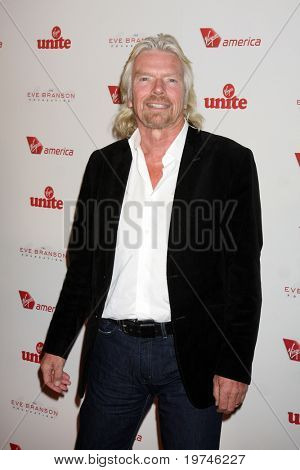 LOS ANGELES - NOV 10:  Sir Richard Branson arrives at the Rock the Kabash Gala 2010 at Dorothy Chandler Pavilion  on November 10, 2010 in Los Angeles, CA