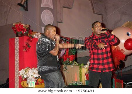 LOS ANGELES - NOV 20:  Chrisopher Massey (Red Shirt), Kyle Massey (Black shirt) at the Tree Lighting Concert 2010  at Hollywood & Highland Center Court on November 20, 2010 in Los Angeles, CA
