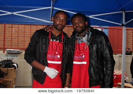 LOS ANGELES - NOV 18: Donovan McCrary, Darius McCrary at the 2010 Hollywood Fire Dept & Police Appreiciation Luncheon at Wilcox Police Station on November 18, 2010 in Los Angeles, CA