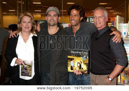 "LOS ANGELES - NOV 19: Sheri Anderson, Eddie Campbell, Shawn Christian, Greg Meng at the Launch for ""Days of our Lives 45 Years: A Celebration In Photos"" at Barnes & Noble - The Grove on Nov 19, 2010 i"