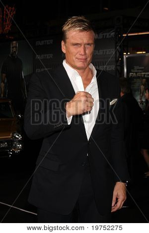 """LOS ANGELES - NOV 22:  Dolph Lundgren arrives at the """"Faster"""" LA Premiere at Grauman's Chinese Theater on November 22, 2010 in Los Angeles, CA"""