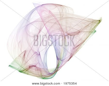 Optical Art Fractal Attractors Poly Multicolor Two Variant One