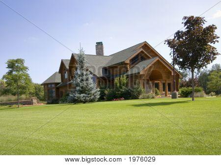 Large Upscale Log Home