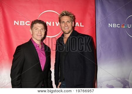 PASADENA, CA - JAN 13:  Bobby Flay, Curtis Stone arrives at the NBC TCA Winter 2011 Party at Langham Huntington Hotel on January 13, 2010 in Pasadena, CA