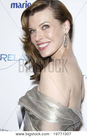 BEVERLY HILLS- JAN 16: Milla Jovovich arrives at The Weinstein Company And Relativity Media's 2011 Golden Globe Awards Party at Beverly Hilton Hotel on January 16, 2011 in Beverly Hills, CA